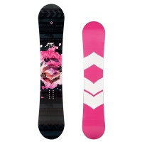 FTWO Black Deck Wing Rocker Snowboard